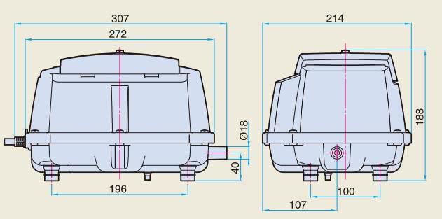 LA60B Dimensions