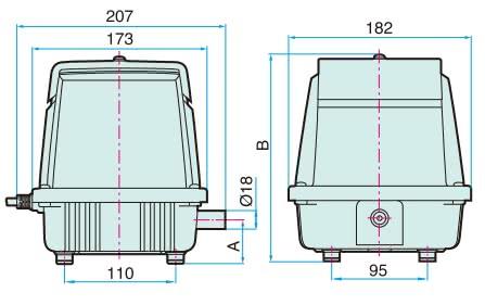 LA-28B Dimensions