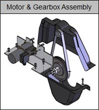 Klargester BioDisc Motor & Gearbox Assembly