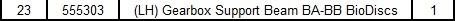 (LH) Gearbox Support Beam BA-BB BioDisc