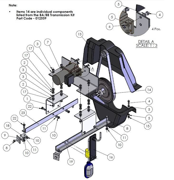 Motor and Gearbox Assembly