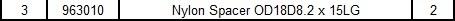 Nylon Spacer
